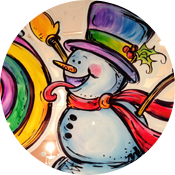 Christmas Window Painting