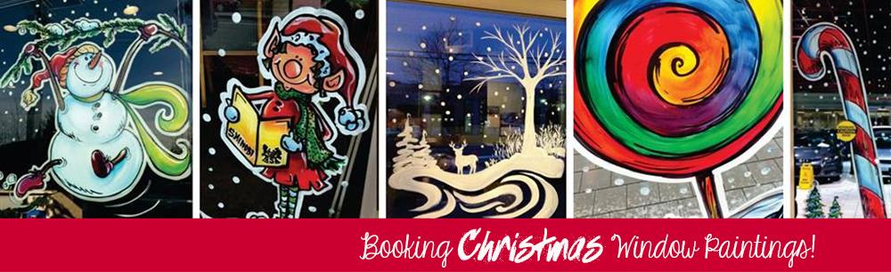 Booking Christmas Window Paintings